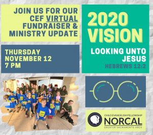 Virtual Fundraiser and Ministry Update Graphic